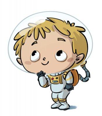 Vinilo niño astronauta