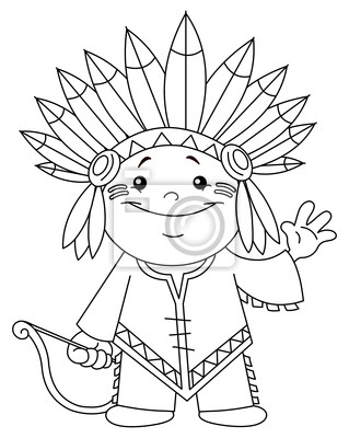 Niño indio con contorno vinilos para portátiles • vinilos para la ...