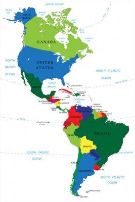 Vinilo Norte y Sudamérica mapa