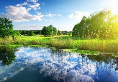 Vinilo Nubes en el río