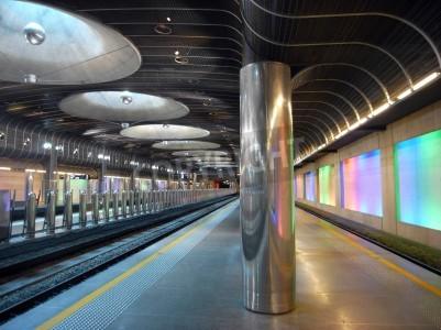 Vinilo Nueva estación de tren - la arquitectura Auckland