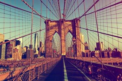 Vinilo Nueva York desde el puente de Brooklyn
