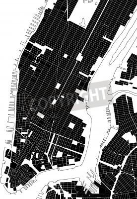 Vinilo Nueva York negro plan de la ciudad blanca - textura de la calle