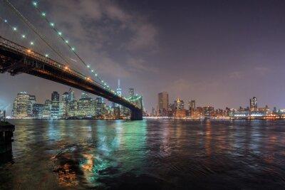 Vinilo Nueva york noche vista de brooklyn