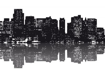 Nueva York Skyline abstrakt