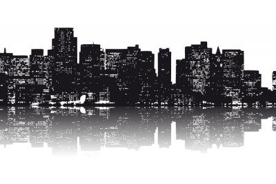 Vinilo Nueva York Skyline abstrakt