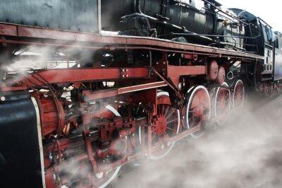 Vinilo Old locomotive wheels