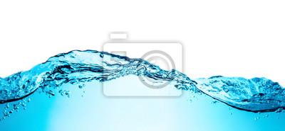 Vinilo Onda de agua azul con textura del fondo del primer de las burbujas aislada en la tapa. Foto grande de gran tamaño.