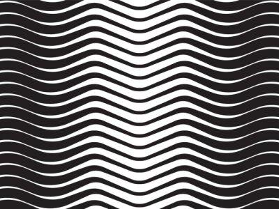 Vinilo onda óptica rayas de fondo abstracto blanco y negro