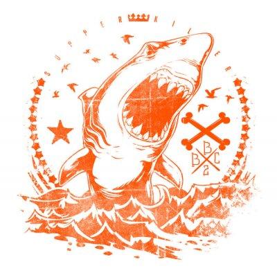 Vinilo Ondas de tiburón