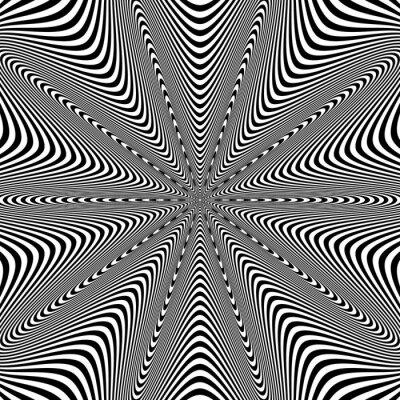 Vinilo Opt Ilustración de arte para su diseño. Ilusión óptica. Resumen de antecedentes. Utilice para las tarjetas, invitación, fondos de escritorio, patrones de relleno, páginas web elementos y etc.