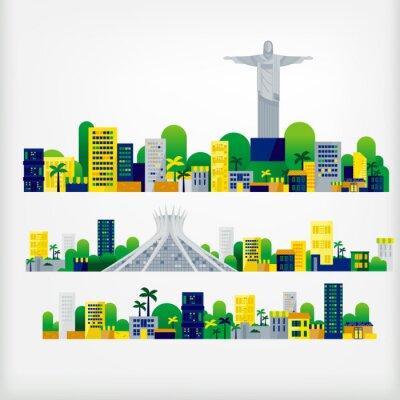 Vinilo paisaje de brasil