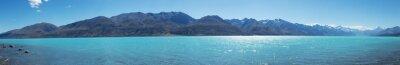 Vinilo Paisaje del lago en día de verano en nueva zelanda