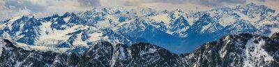 Vinilo paisaje invernal de montaña panorama Alpes