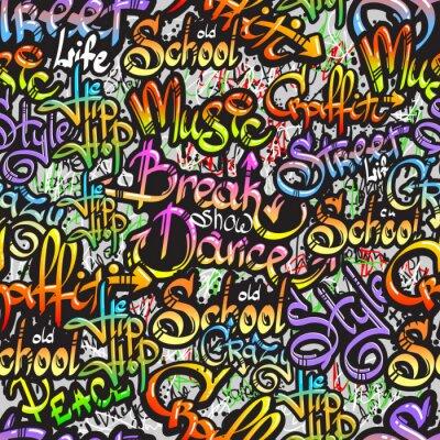 Vinilo Palabra Graffiti seamless pattern