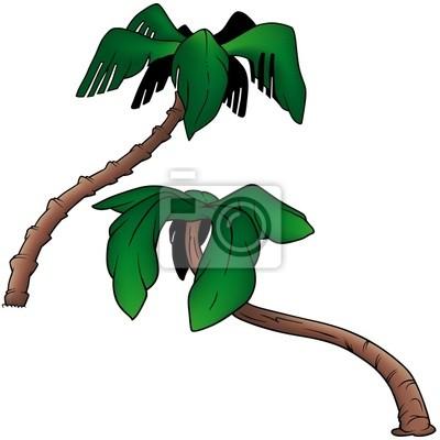 Palms 4 - dos color de dibujos animados vinilos para portátiles ...