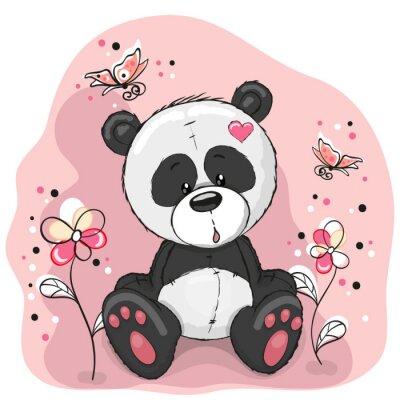 Vinilo Panda con flores