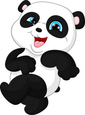 Vinilo Panda divertida linda del bebé