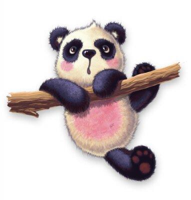 Vinilo panda peludo