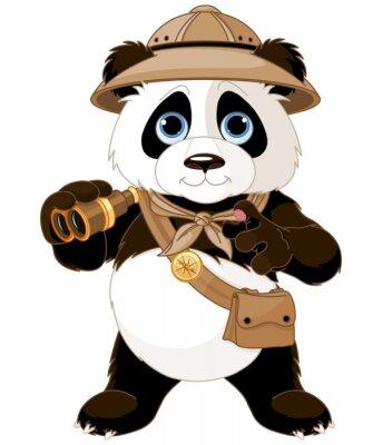 Vinilo Panda Safari Explorador
