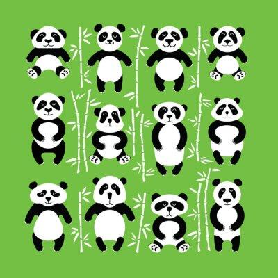 Vinilo Pandas oso plano. Panda animal aislado.