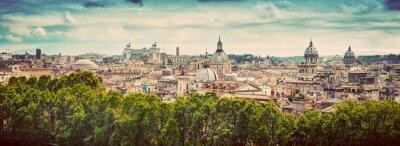 Vinilo Panorama de la antigua ciudad de Roma, Italia. Vintage