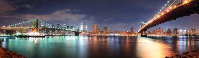 Vinilo Panorama de la ciudad de nueva york
