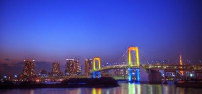 Vinilo Panorama de Tokio iluminada
