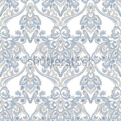 Vinilo Papel tapiz floral vector. Adorno floral barroco clásico. Patrón de la vendimia sin fisuras