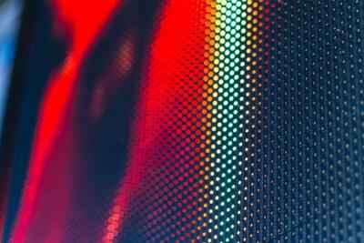 Vinilo Pared de video LED con alto patrón saturado