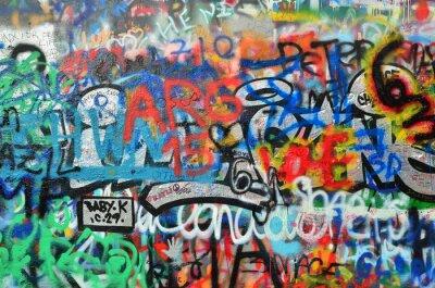 Vinilo Pared rociada con graffiti