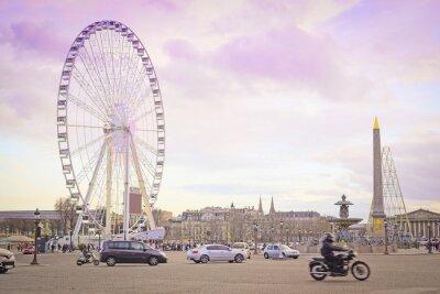 Vinilo París, Francia - 7 de febrero de 2016: Rueda de la fortuna en la Place de la Concorde en París, Francia