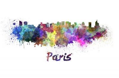 Vinilo París V2 horizonte en acuarela
