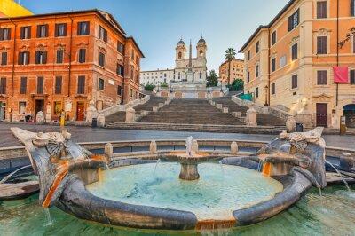 Vinilo Pasos españoles por la mañana en Roma, Italia