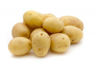 Vinilo Patatas en el fondo blanco. Nueva cosecha.