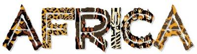 Vinilo Patchwork África, con texturas de la tela y de la piel