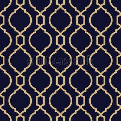 Vinilo Patrón abstracto en estilo árabe. Fondo de vector geométrico transparente