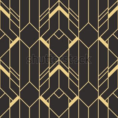 Vinilo Patrón de azulejos modernos de vector. Fondo monocromo transparente art deco abstracto