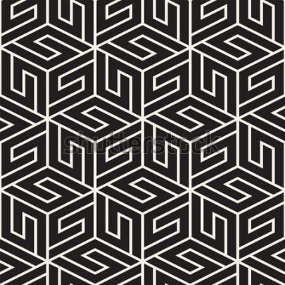 Vinilo Patrón de celosía transparente de vector. Textura con estilo moderno con enrejado monocromo. Repetir cuadrícula geométrica. Fondo de diseño simple.