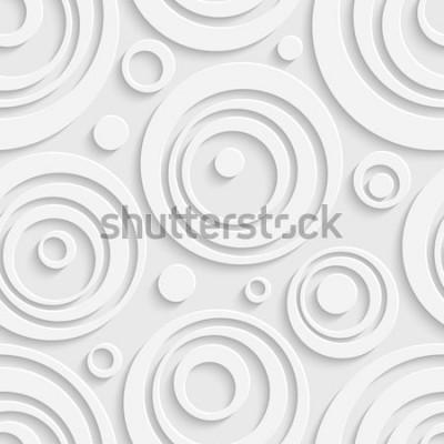 Vinilo Patrón de círculos sin costuras