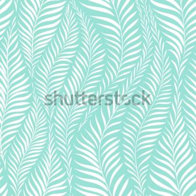 Vinilo Patrón de hoja de palma. Ilustración vectorial Elemento de decoración