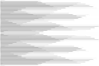 Vinilo Patrón de medios tonos de línea de velocidad horizontal con efecto degradado. Plantilla para fondos y texturas estilizadas.