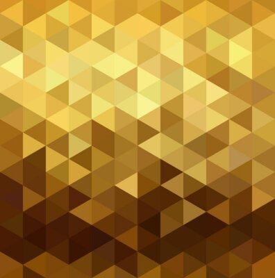 Vinilo Patrón de oro bajo triángulo de poli geometría de fantasía