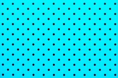 Vinilo Patrón de papel tapiz puntos negros en el fondo de color turquesa