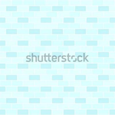 Vinilo Patrón de pared de ladrillo cian. Fondo de ladrillo de vector transparente