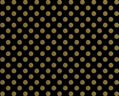 Vinilo Patrón de polca punto de oro