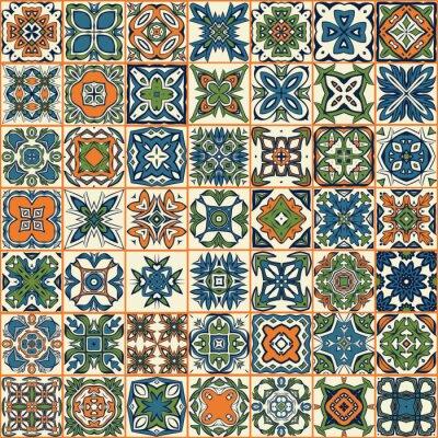 Vinilo Patrón de remiendo sin fisuras, azulejos, adornos