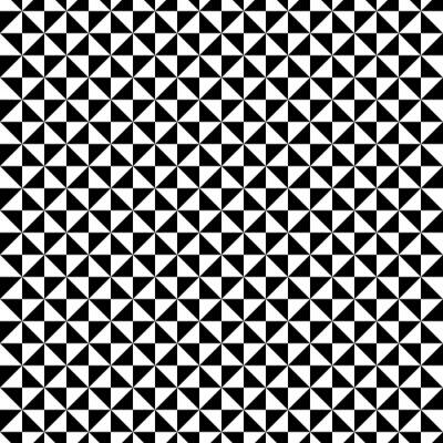 Vinilo Patrón de triángulo blanco y negro