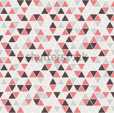 Vinilo Patrón de triángulo sin costuras Vector de fondo. Textura abstracta geométrica