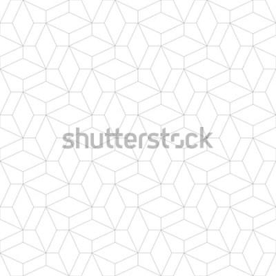Vinilo Patrón geométrico abstracto con cruce de líneas finas. Elegante textura en color gris. Patrones lineales sin fisuras.